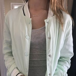 Cute Mint Bomber Jacket Tillys NWT Ashley